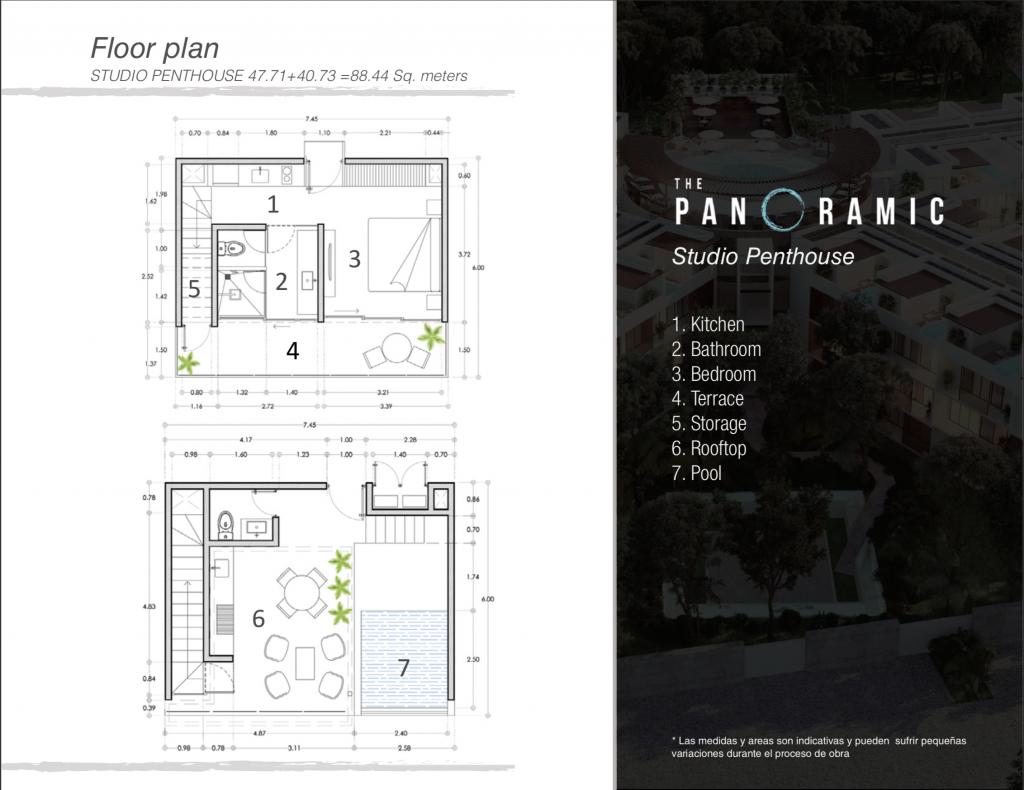 The Panoramic . Tulúm / Studio Penthouse